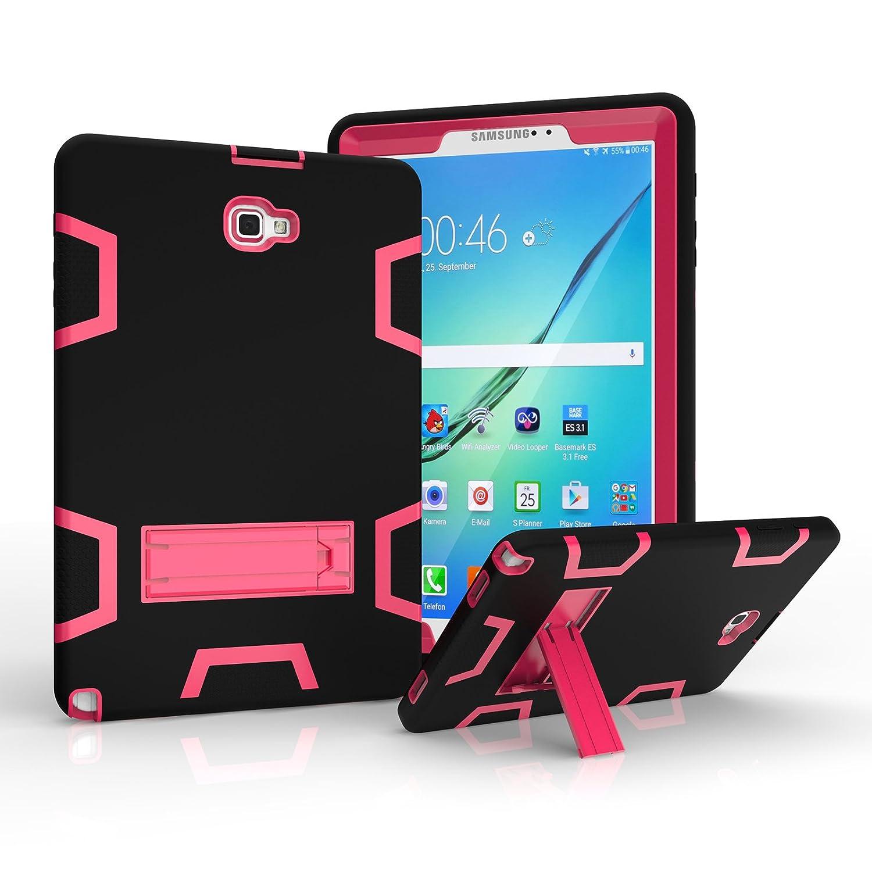 Dteck Dteck - Funda de Piel con Tapa para Samsung Galaxy Tab A P580 (Función de Encendido y Apagado automático, con Función de Encendido y Apagado), Color Negro #04 Navyblue + Mint P580-DK-0920