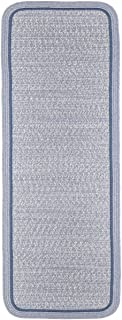 product image for Rhody Rug CC98R024X096S 2 x 8 ft. Casual Comfort Sunrise Blue Banded Braided Rug44; Rectangle-Runner
