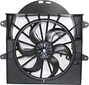 Radiator Fan Assembly for GRAND CHEROKEE 05-09 3.7L/4.7L Eng.