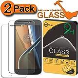 [2-Pack] Jasinber Mica de Vidrio Cristal Templado para Motorola Moto G 4ta Generación