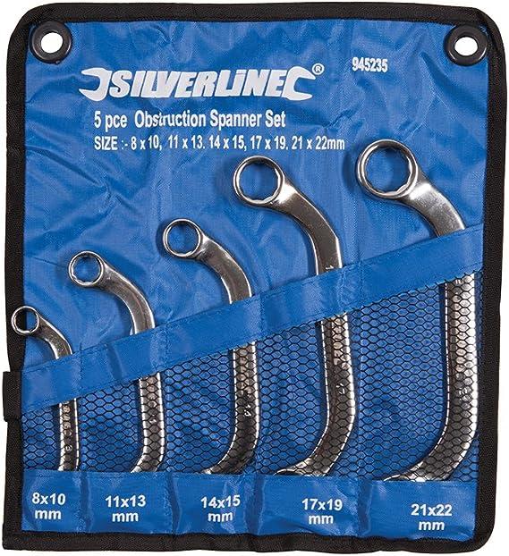 Silverline Tools 945235 - Llave de estrella (5 piezas) multicolor, 8 – 22 mm: Amazon.es: Bricolaje y herramientas