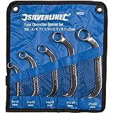 Silverline 945235 Starter-Blockschlüssel, 5-tlg. Satz 8–22 mm