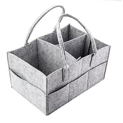 Auranso - Cesta para pañales de bebé con compartimentos ...