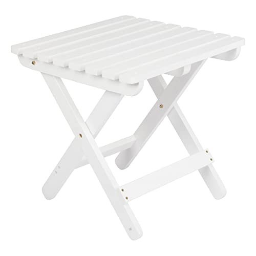 Shine Company 4109WT Adirondack Square Folding Table, White