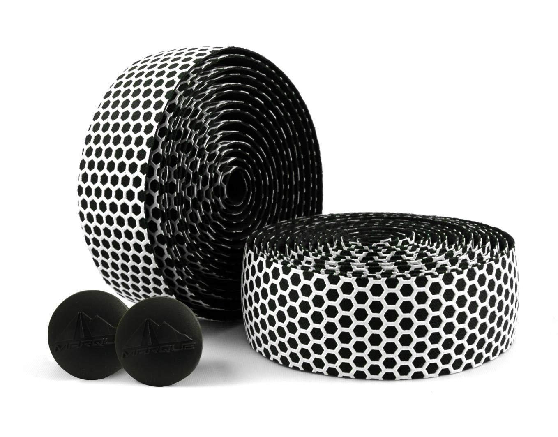 MARQUE Hex Grip Bar Tape - Road Bike Handlebar Tape 2PCS per Set (White) by MARQUE