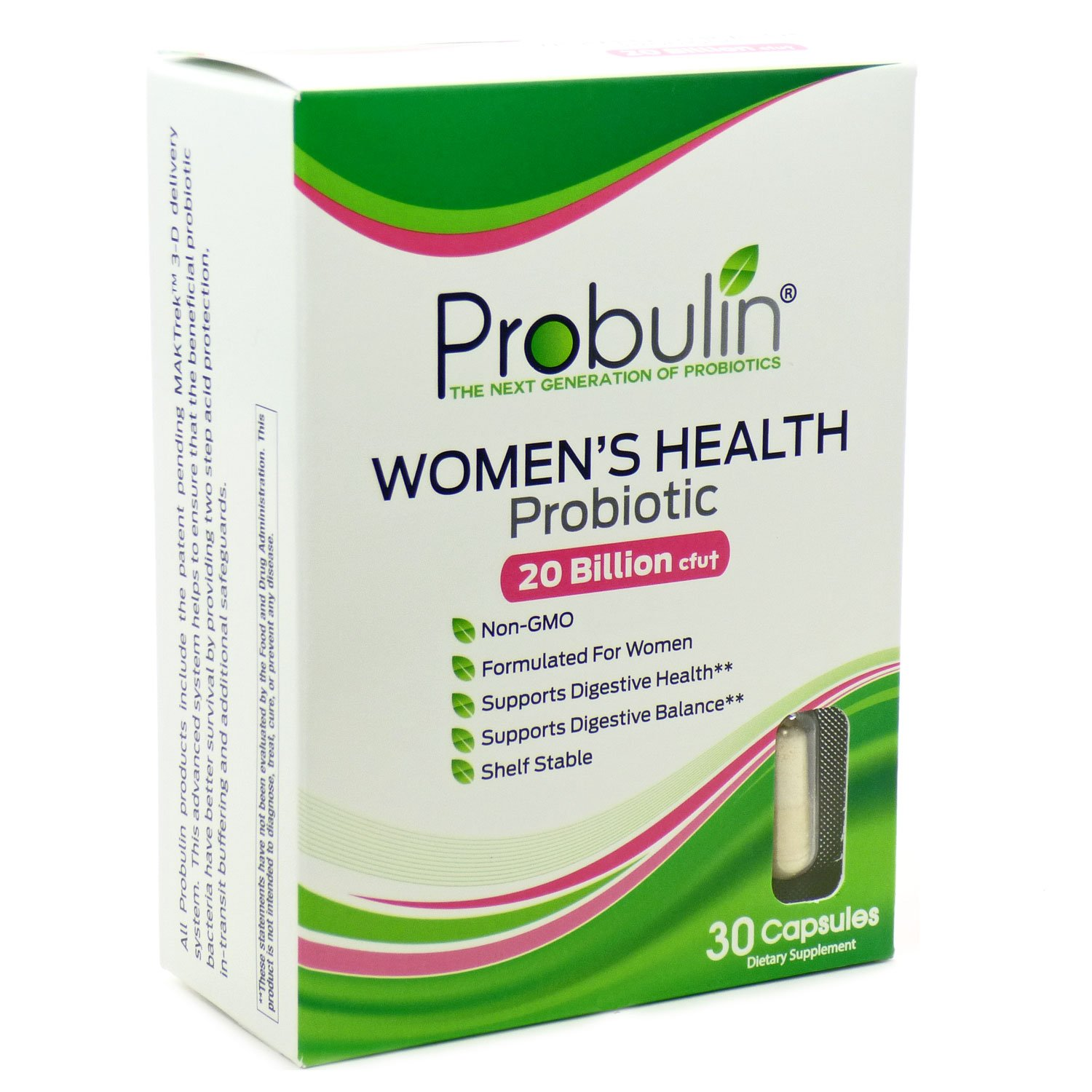 Probulin Women's Health Probiotic, 30 Capsules