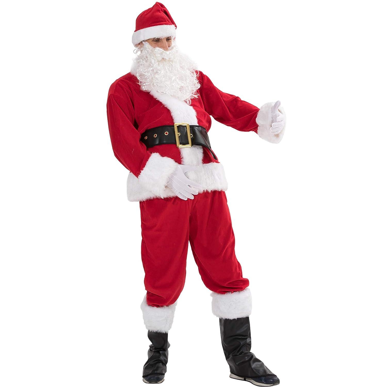 EraSpooky Hombre Traje De Santa Papá Noel Deluxe Disfraz ...