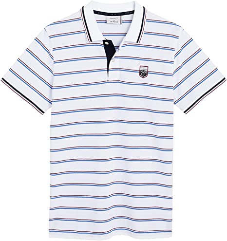 Gant Mens Striped Polo Shirt: Amazon.es: Ropa y accesorios