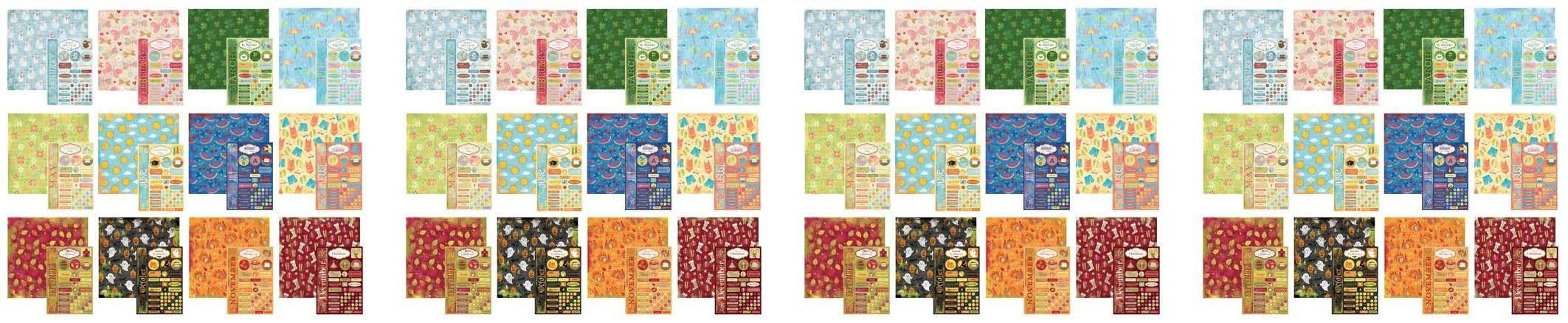 Karen Foster Design Scrapbook Calendar Creations Creative Kit (4-(Pack))