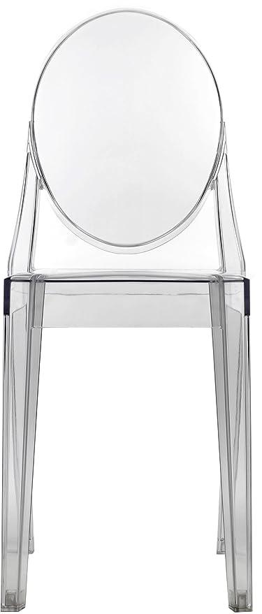 Victorian Ghost Chair Clear   Side Chair Armless