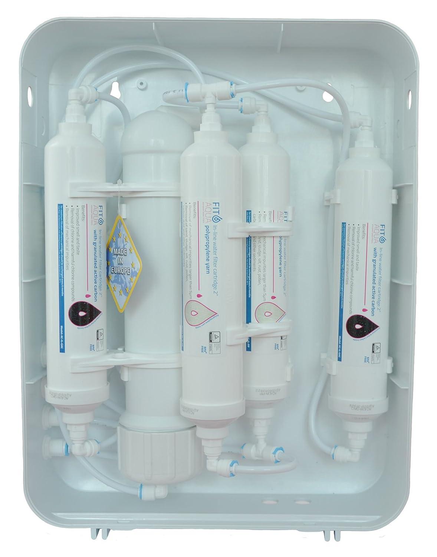 Fit aqua ARO-A-AL6 H/äusliche funf stufige Umkehrosmose RO ALABASTER Wasserfilter fur Kuche unter Waschbekcen Komplettset original Made in EU