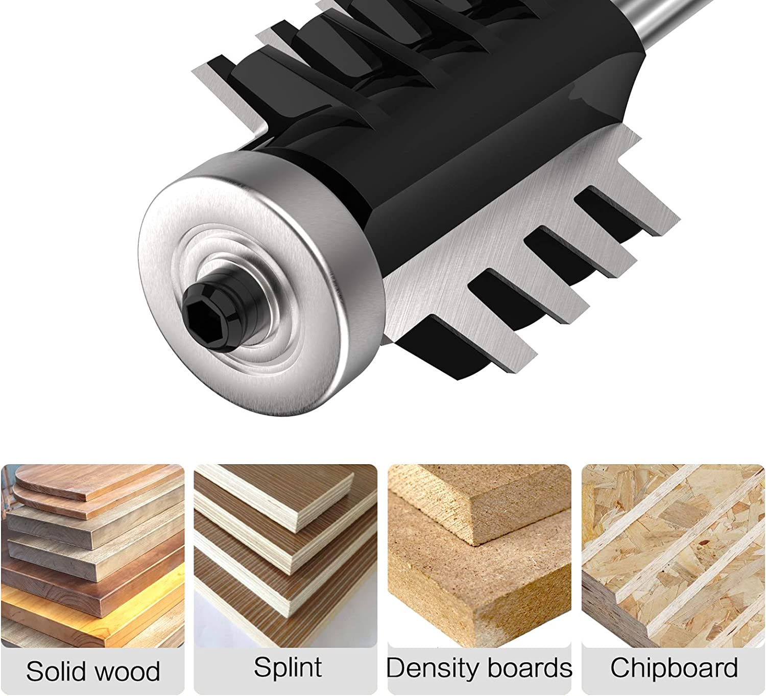 SUSOTA Finger Joint Router Bit with 1//4 Shank 1-1//2 Inch Cut Heigth 5//16 Inch Depth of blade Reversible Finger Joint Glue Joint Router Bit Woodworking Tool
