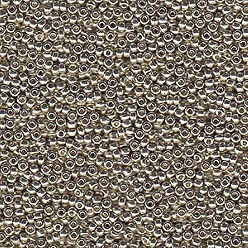 Duracoat Galvanized Silver Miyuki Japanese round rocailles glass seed beads 11/0 Approximately 24 gram 5 inch tube (Seed 11/0 Bead Round)