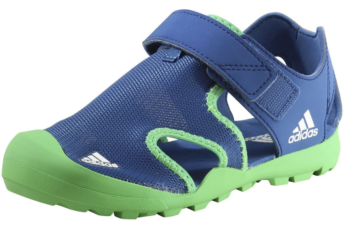 adidas outdoor Captain Toey Water Shoe, Core Blue/Energy Green/White, 6 M US Big Kid