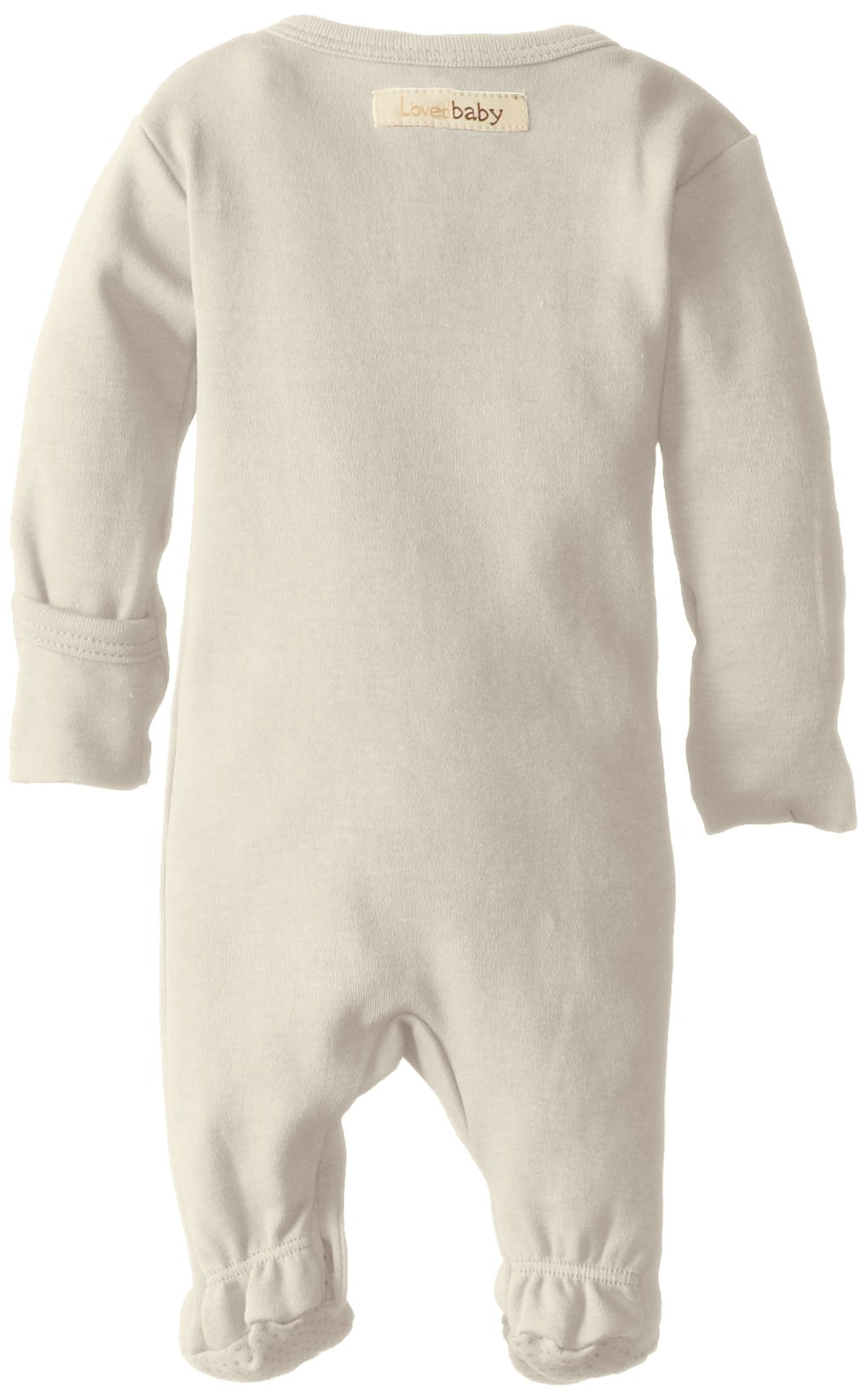 L'ovedbaby Unisex-Baby Organic Cotton Footed Overall, Beige, 0/3 Months by L'ovedbaby (Image #2)
