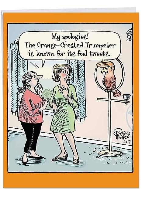 j6072bdg Jumbo de buen humor Tarjeta de cumpleaños: orange ...