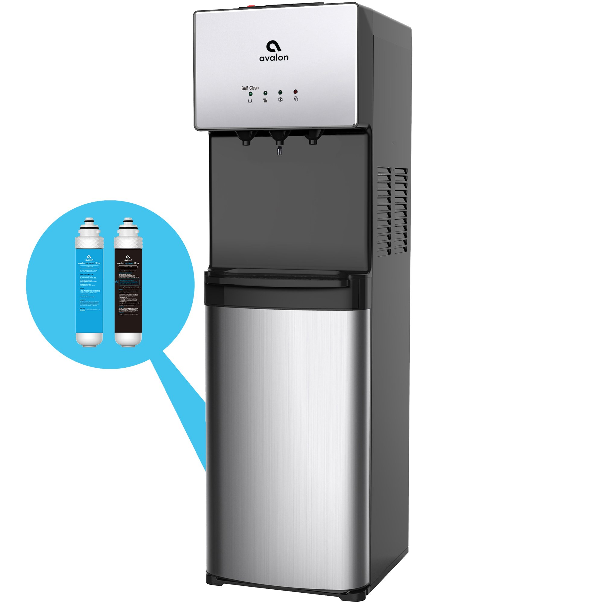Ordinaire Avalon Self Cleaning Bottleless Water Cooler Water Dispenser   3  Temperature Settings   Hot, Cold