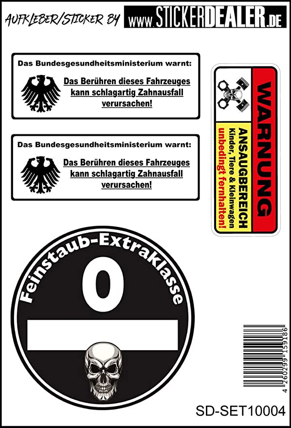 Unbekannt Jdm Aufkleberset Sticker Feinstaub Plakette Fun Lustig Auto