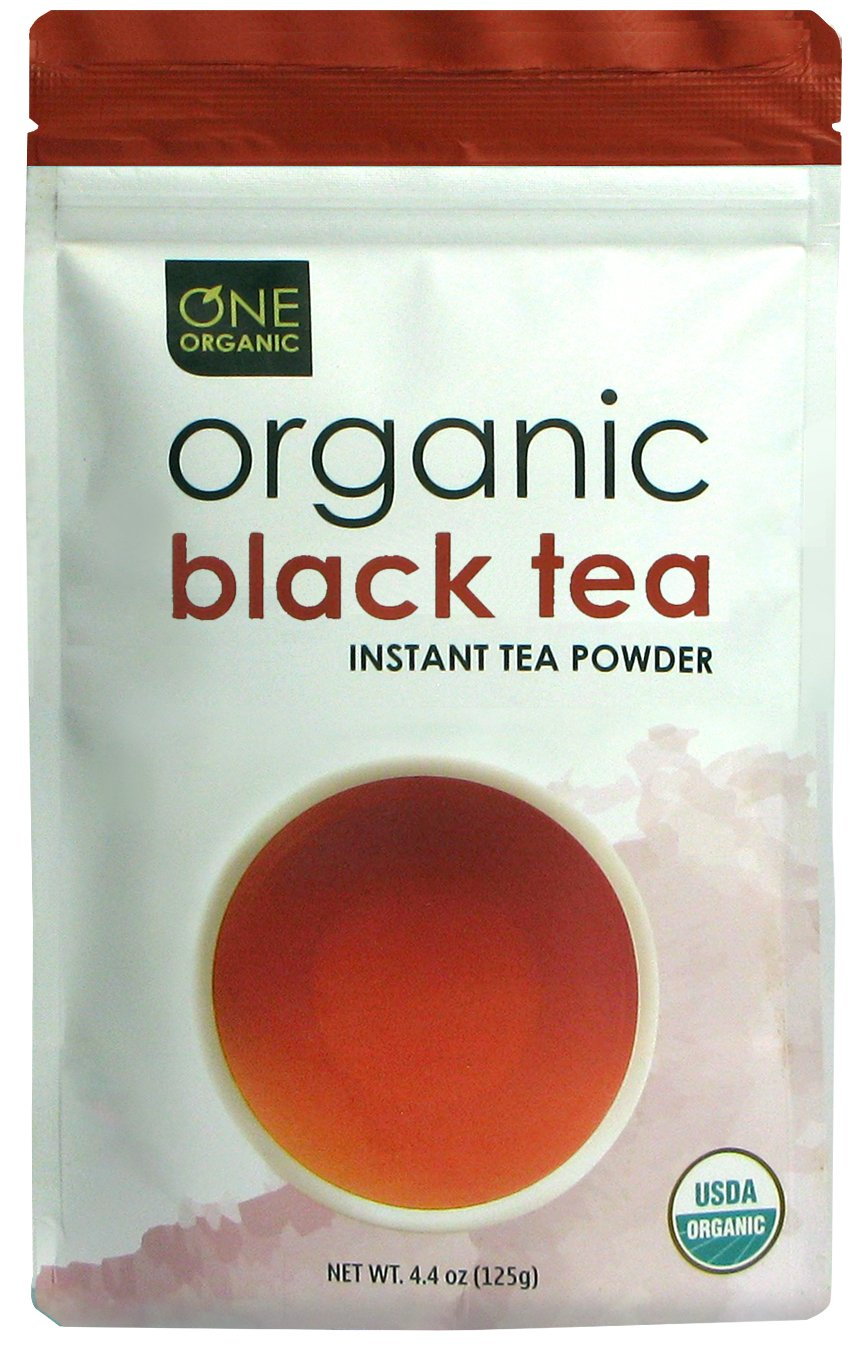 ONE ORGANIC Instant Tea Powder (Black) – 4.4 oz. – 125 Servings – USDA Certified Organic – 100% Pure Tea - Instant Hot or Iced Tea – Unsweetened – No Fillers or Preservatives