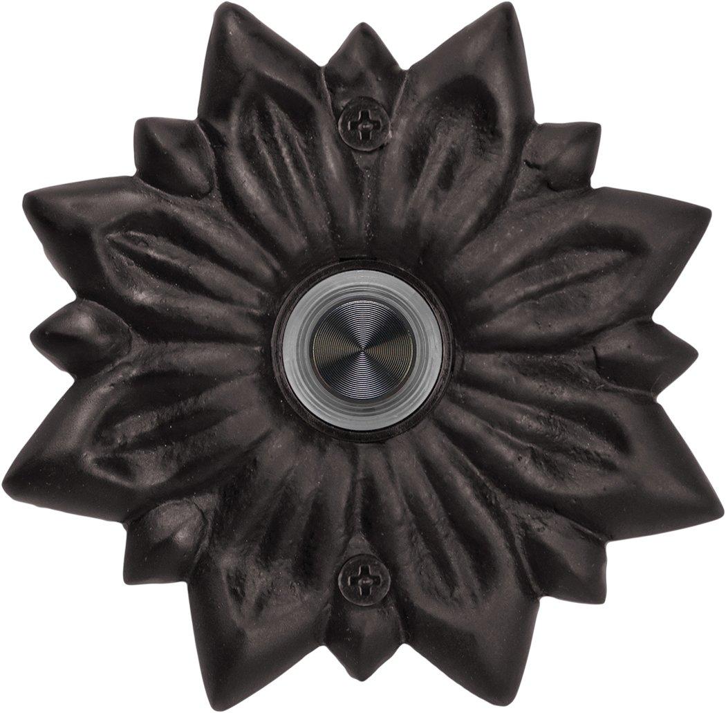 Waterwood Solid Brass Radiance Doorbell in Black