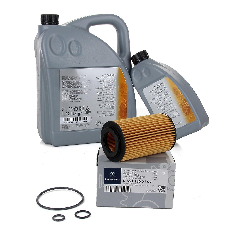 Ö l Original Mercedes-Benz 5 W30 MB 229.51 6 Liter + Filter Ö l original 6511800109