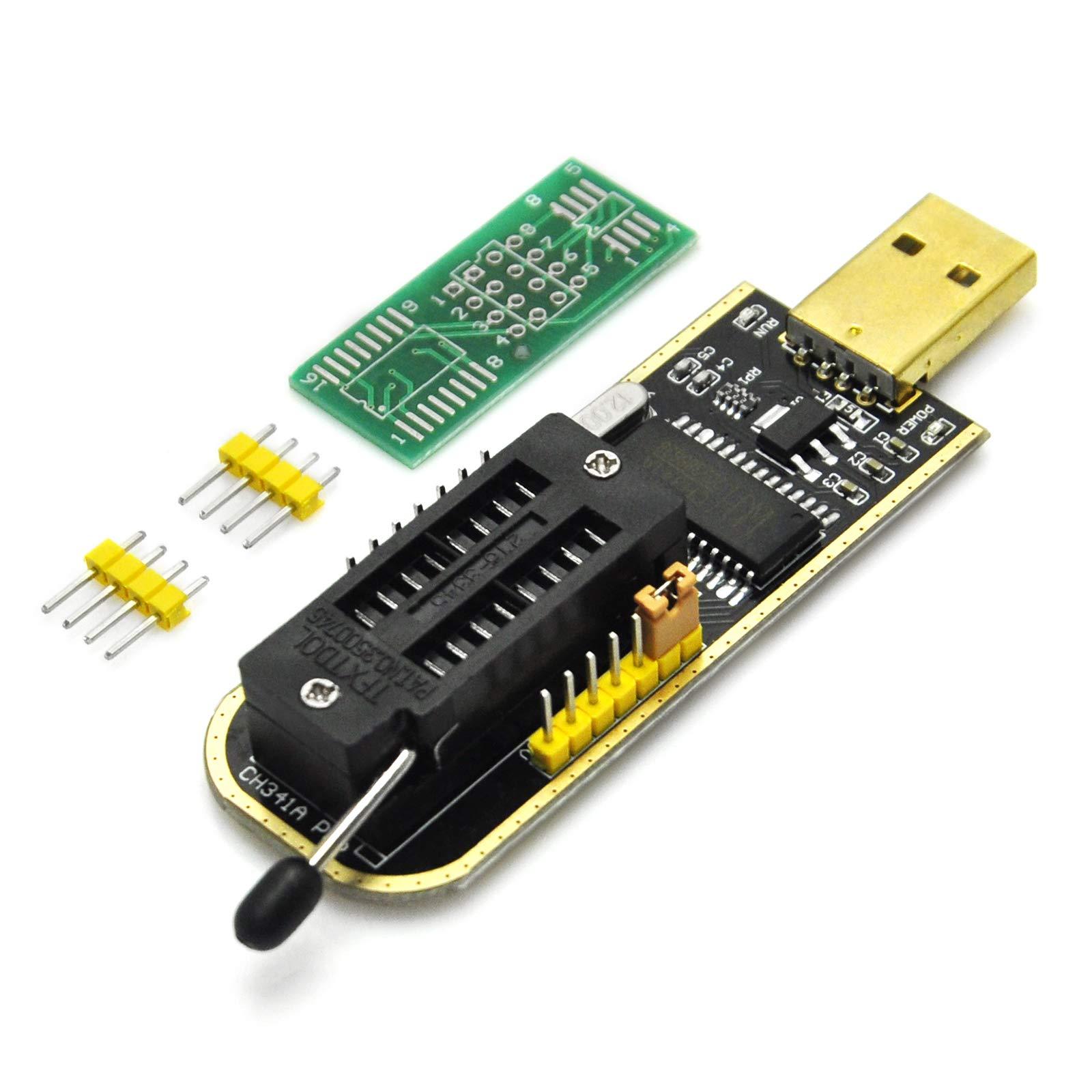 Gikfun USB Programmer CH341A Series Burner Chip 24 EEPROM BIOS Writer 25 SPI Flash AE1185 by Gikfun (Image #1)