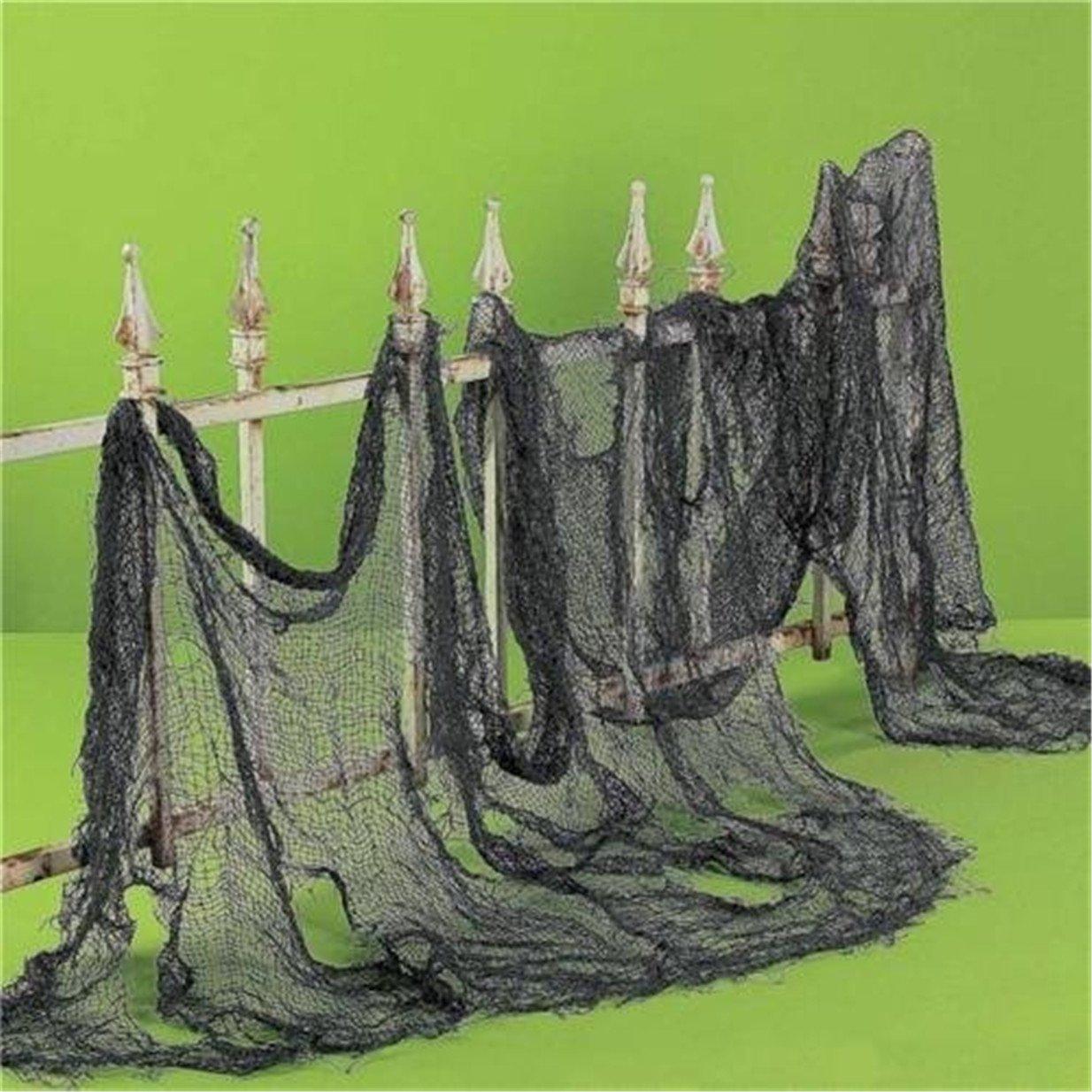 Blanc Lalang Toile daraign/ée D/écorations de Halloween D/écorations Web daraign/ée Halloween Suspendues /à Fen/être de Porte
