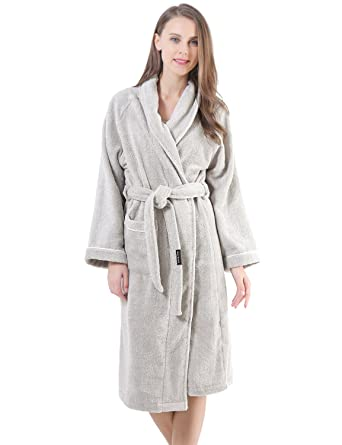Terry Cotton Cloth Plush Kimono Bathrobe 1b19c3744