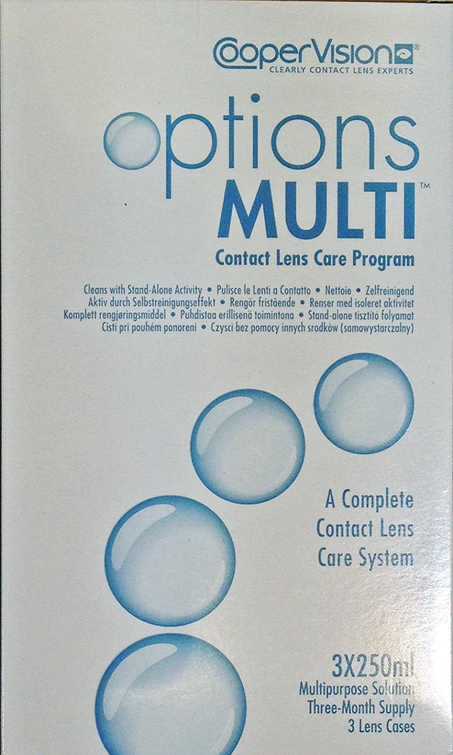 Options Multi Contact Lens Care Program 3x250ml (3 Months Supply) CooperVison