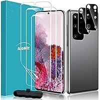 AloMit [3 Pack]Screen Protector for Galaxy S20 Plus 5G,S20 Plus+[2 Pack]Camera Lens Protector Fingerprints Sensor…