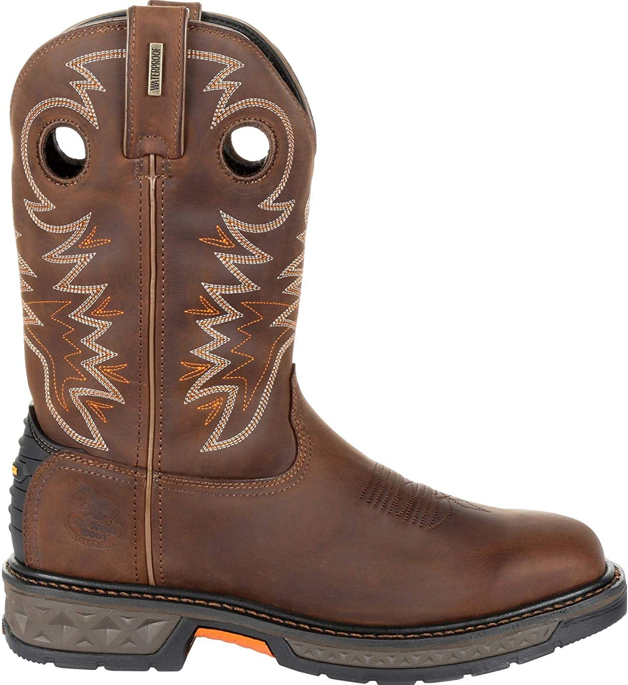 B07NZ67LCH Georgia Boot Carbo-Tec LT Pull-On Work Boot Brown 71PXWxuinCL.UL1400_