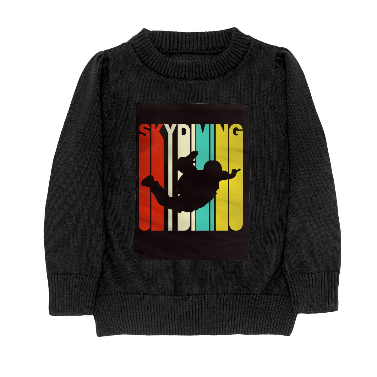 Vintage Style Skydiving Silhouette Fashion Adolescent Boys /& Girls Unisex Sweater Keep Warm