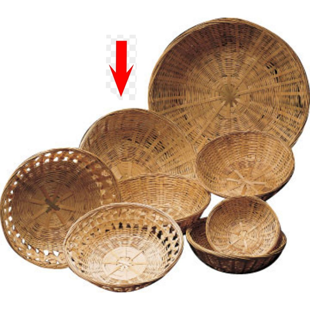 10 x 3 1/2 Round Bamboo Basket Closed Weave