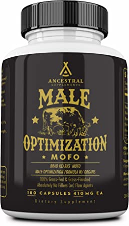 Mofo is Ancestral Supplements Male Optimization Formula W/ Organs (Mofo) — (180 Capsules)