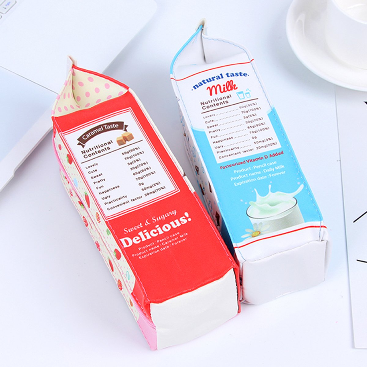 Resistente al agua cartón de leche con cremallera Estuche de ...