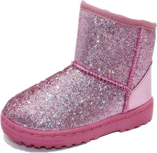 NEW ARRIVALS GIRLS PINK SEQUIN DUCK BOOTS SIZE 11,12,13,1,2,3,4,5
