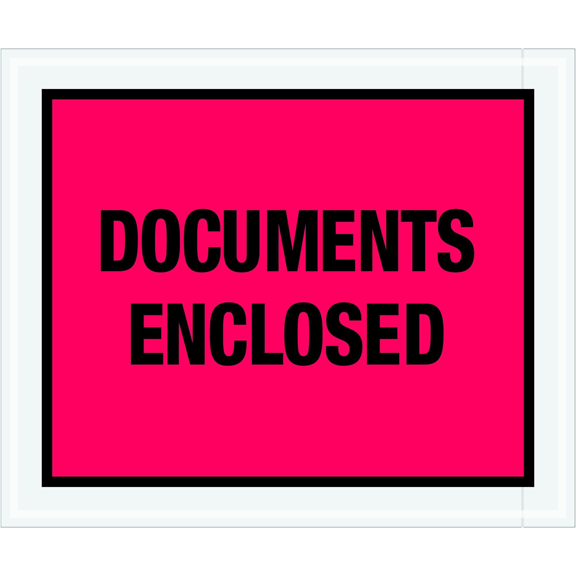 Tape Logic TLPL437 ''Documents Enclosed'' Envelopes, 10'' x 12'', Red (Pack of 500)
