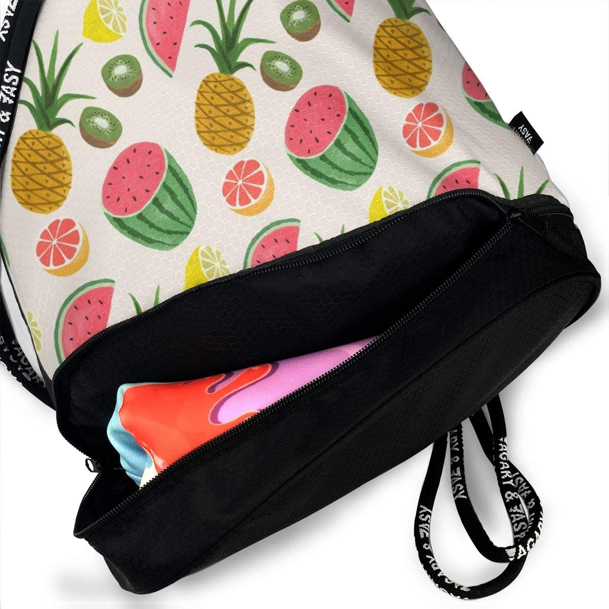 GymSack Drawstring Bag Sackpack Watermelon Pattern Sport Cinch Pack Simple Bundle Pocke Backpack For Men Women