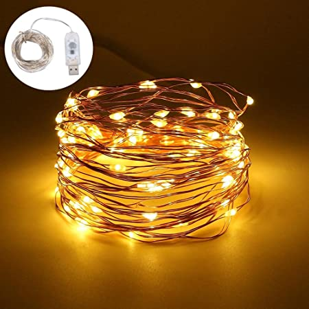 10M 100LEDs String Light Copper Wire Xmas Garden Home Party Decor Fairy Lamp UK