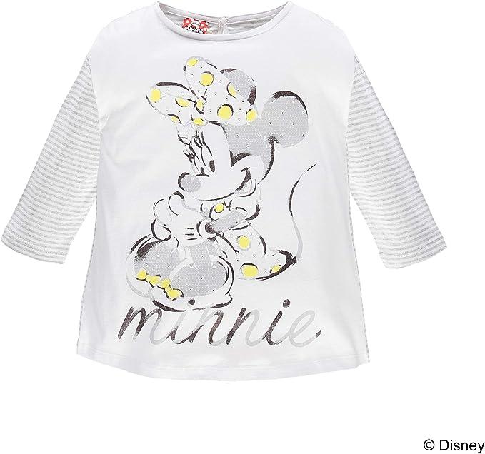 grigio o bianco Ragazze Top con Minnie