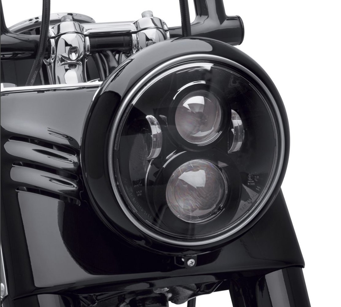 Dot Approved 7Inch Black LED Headlight for Harley Motorcycle Tour,FLD,Softail Heritage,Street Glide,Road King,Electra Glide,Yamaha V-Star Road Star Jeep Wrangler