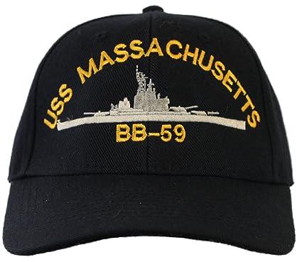 USS Massachusetts BB-59 Ball Cap at Amazon Men s Clothing store  3df17de0874