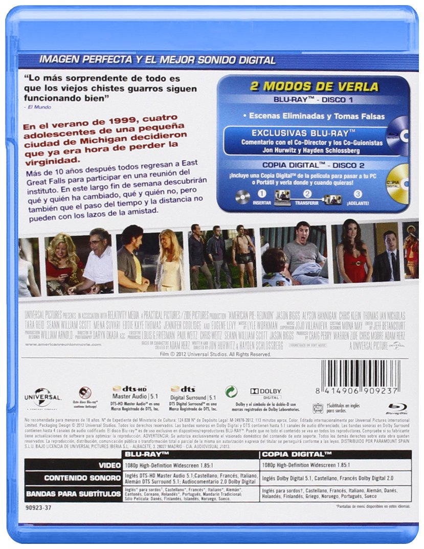 Amazon.com: American Pie 8: El Reencuentro (Blu-Ray) (Import Movie) (European Format - Zone B2) (2012) Jason Biggs; Alyson: Movies & TV