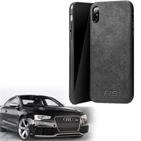 reputable site ff454 02d02 Phone Case for Apple iPhone X, Luxury Super RS Logo Slim Leather Alcantara  Suede Durable Protective Cover Case (2017 2018)