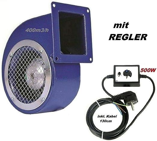 Ventilador 1200m3/h con 500W Regulador de Velocidat Ventilación ...