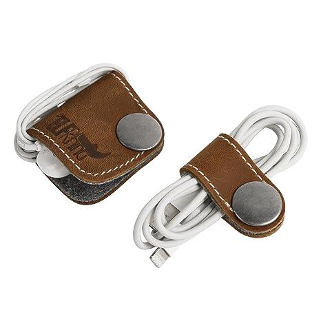 daf056733 ELFRhino Genuine Leather Headphone Earphone Organiser  Amazon.co.uk   Electronics