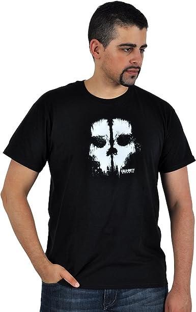 Call of Duty: Ghosts - camiseta de la calavera - algodón - negra - L: Amazon.es: Ropa y accesorios