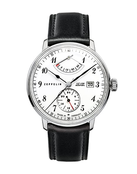 Zeppelin LZ 129 Hindenburg 70601 - Reloj analógico automático para hombre, correa de cuero color negro: Amazon.es: Relojes
