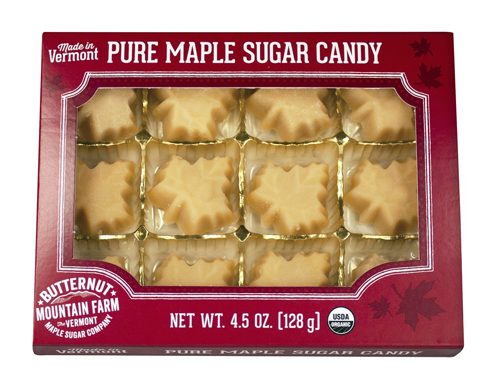 808e50690ed Butternut Mountain Farm 100% Pure Organic Maple Sugar Candy From Vermont