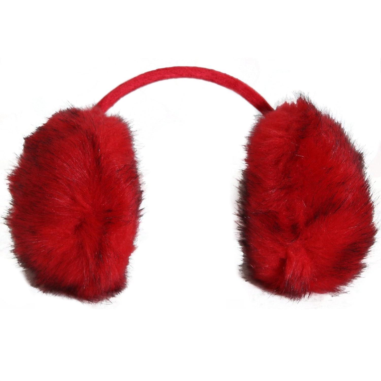 BRUBAKER Earmuffs mit Nackenbügel flauschige Fell Ohrenwärmer in 5 Farben